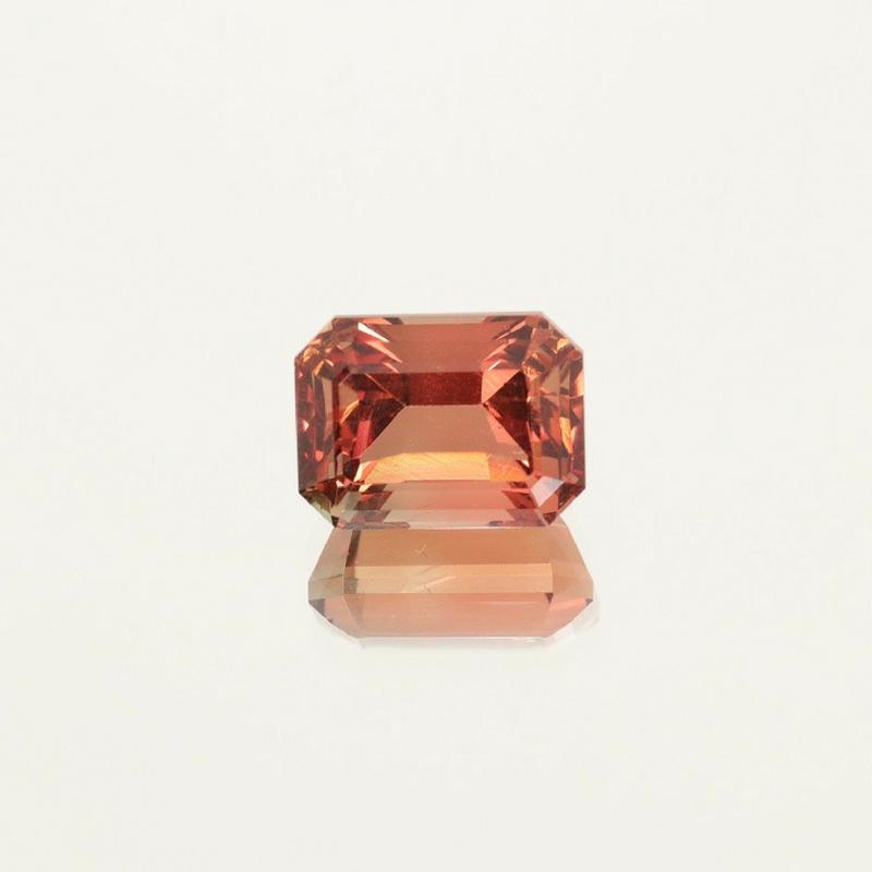 Oregon Sunstone Reddish Orange Emerald Cut